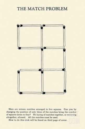 Match Problem Stretched Canvas Print