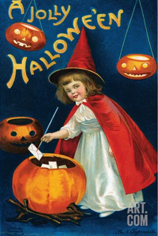 Jolly Hallowe'en Stretched Canvas Print