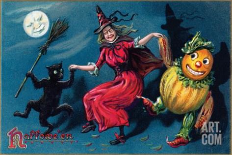 Hallowe'en Stretched Canvas Print