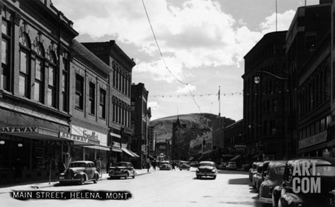 Helena, Montana - Main Street Stretched Canvas Print