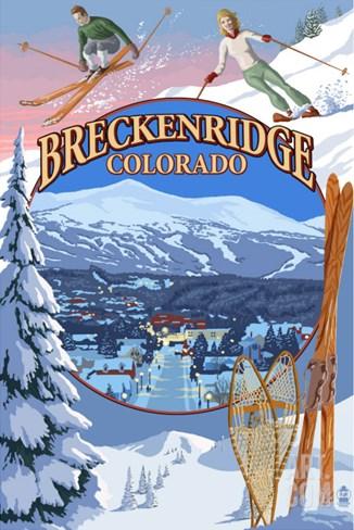 Breckenridge, Colorado Montage Stretched Canvas Print