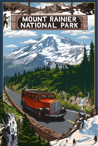 Mount Rainier National Park Stretched Canvas Print
