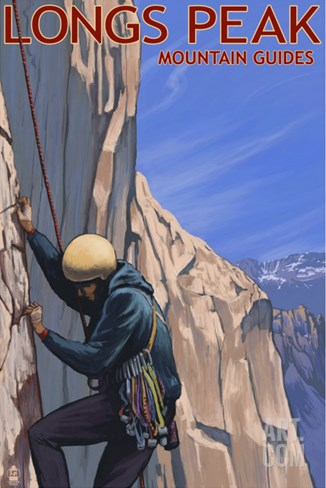 Longs Peak Mountain Guides - Colorado Stretched Canvas Print