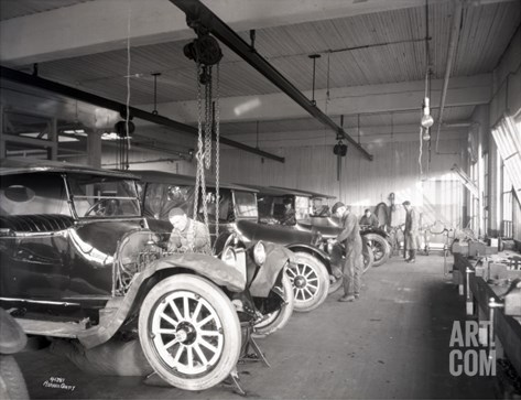 Second Hand Car Shop, 1921 Stretched Canvas Print