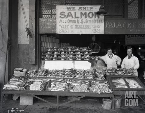 Palace Fish Market, Seattle, 1925 Stretched Canvas Print