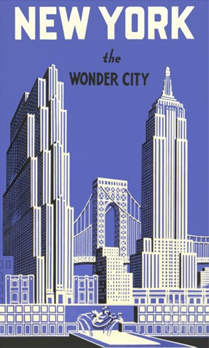 New York, the Wonder City Stretched Canvas Print