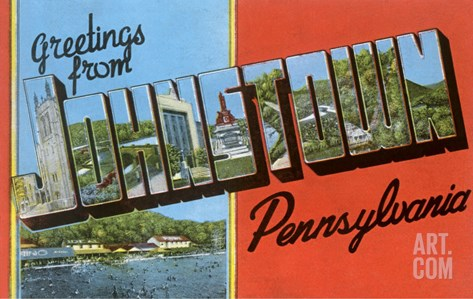 Greetings from Johnstown, Pennslyvania Stretched Canvas Print