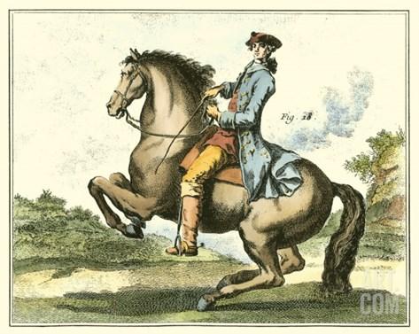 Equestrian Training IV Stretched Canvas Print