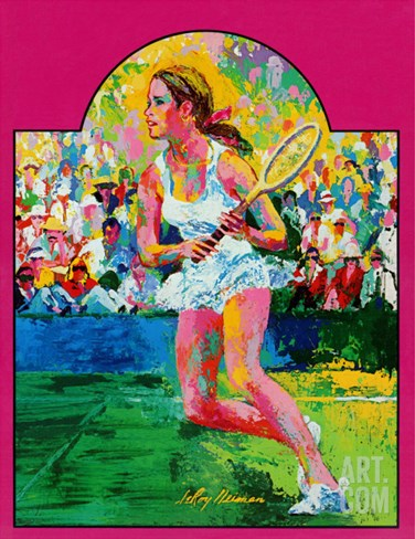 """Girl tennis player,"" May/June 1976 Stretched Canvas Print"