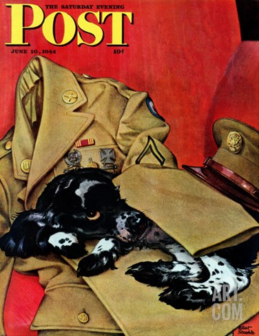 """Master's Uniform,"" Saturday Evening Post Cover, June 10, 1944 Stretched Canvas Print"