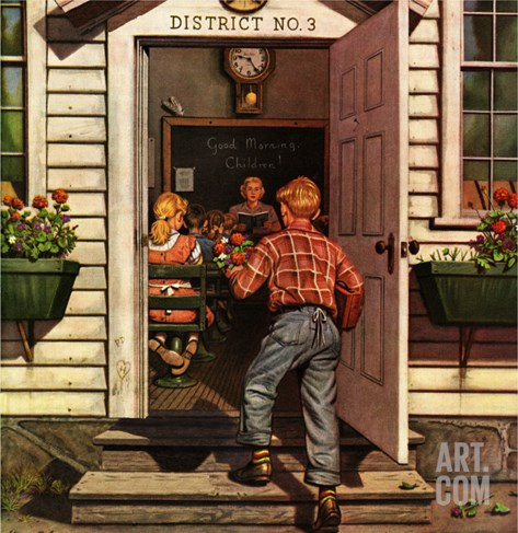 """Flowers for Teacher,"" September 7, 1946 Stretched Canvas Print"
