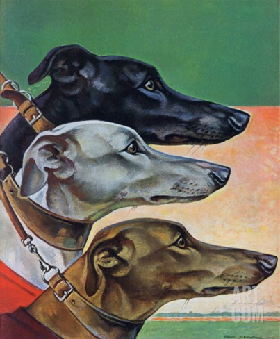 """Greyhounds,"" March 29, 1941 Stretched Canvas Print"