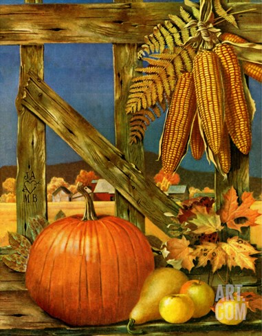 """""""Fall Harvest,"""" October 27, 1945 Stretched Canvas Print"""