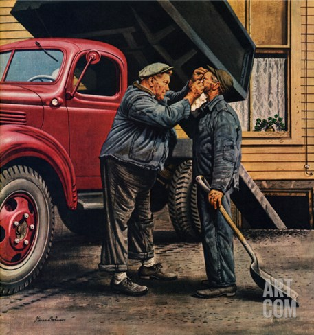 """Speck of Coal,"" October 18, 1947 Stretched Canvas Print"