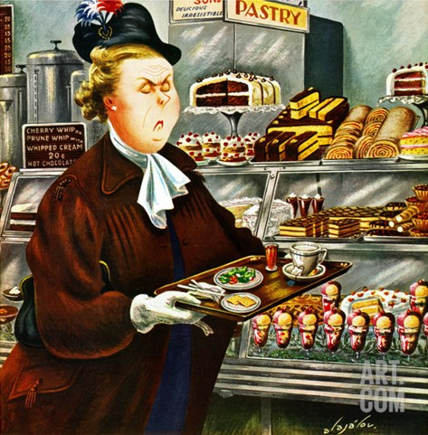 """""""NO Desserts,"""" March 12, 1949 Stretched Canvas Print"""