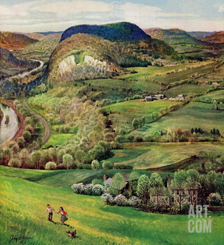 """Green Moutains,"" May 21, 1960 Stretched Canvas Print"