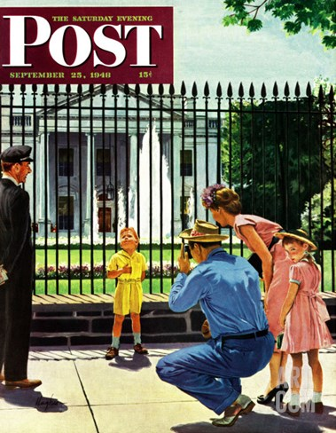 """Future President,"" Saturday Evening Post Cover, September 25, 1948 Stretched Canvas Print"