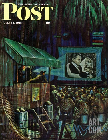 """Army Entertainment,"" Saturday Evening Post Cover, July 14, 1945 Stretched Canvas Print"