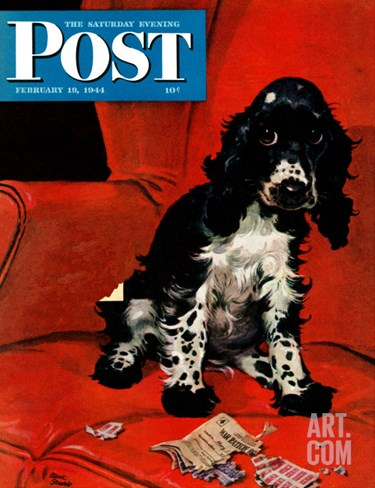 &quot;Butch Ate the Coupons,&quot; Saturday Evening Post Cover, February 19, 1944 Stretched Canvas Print