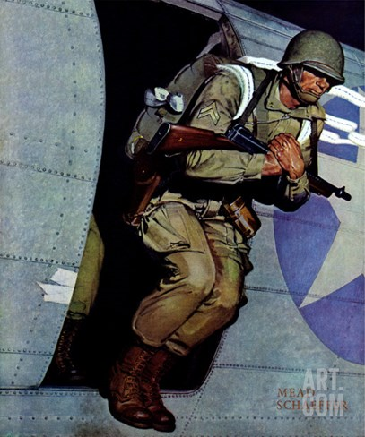 """Paratrooper,"" September 12, 1942 Stretched Canvas Print"