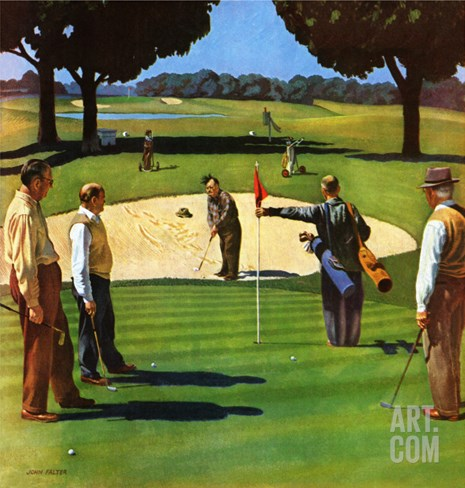 """Sand Trap,"" July 3, 1948 Stretched Canvas Print"