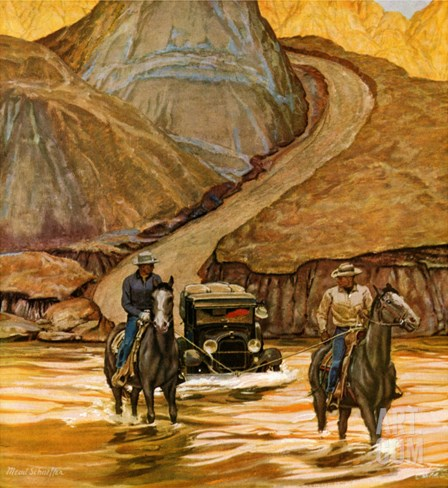 """Westward Tow,"" May 29, 1948 Stretched Canvas Print"
