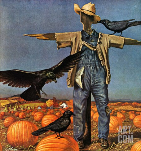 """Scarecrow,"" October 26, 1946 Stretched Canvas Print"