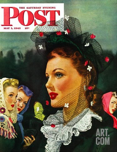 """War Widow,"" Saturday Evening Post Cover, May 1, 1943 Stretched Canvas Print"