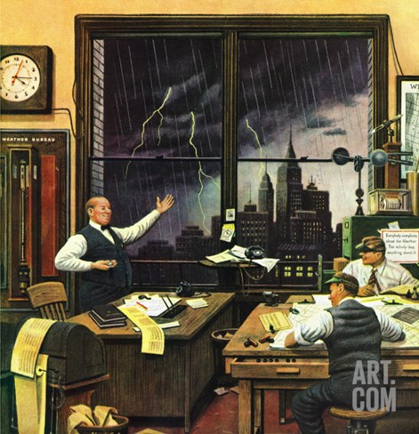 """Weatherman Was Right,"" April 27, 1946 Stretched Canvas Print"