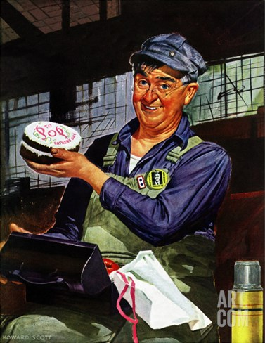 """Happy Father's Day,"" June 19, 1943 Stretched Canvas Print"