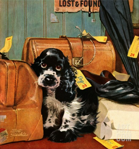 """Butch in Lost & Found,"" January 29, 1949 Stretched Canvas Print"