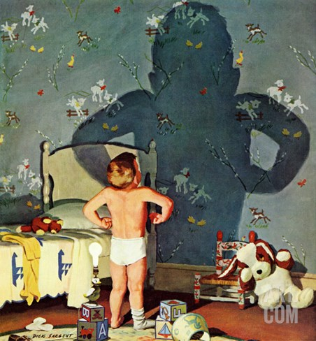 """Big Shadow, Little Boy,"" October 22, 1960 Stretched Canvas Print"