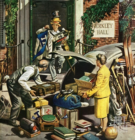 """Returning Home From College,"" June 5, 1948 Stretched Canvas Print"