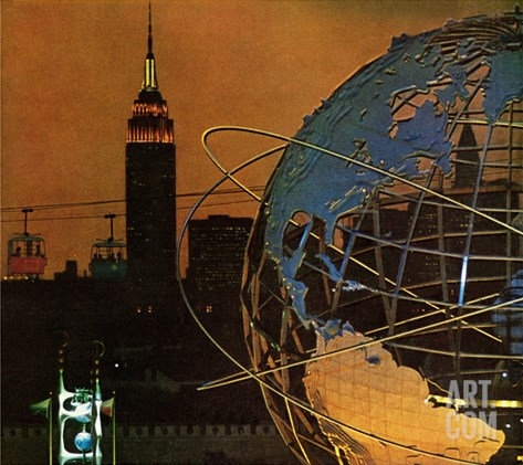 """New York World's Fair,"" May 23, 1964 Stretched Canvas Print"