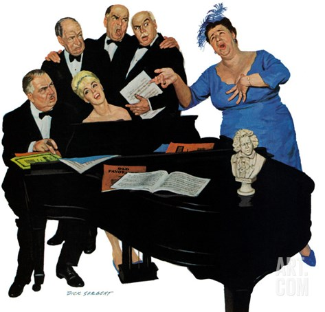 """The Fat Lady Sings,"" December 16, 1961 Stretched Canvas Print"