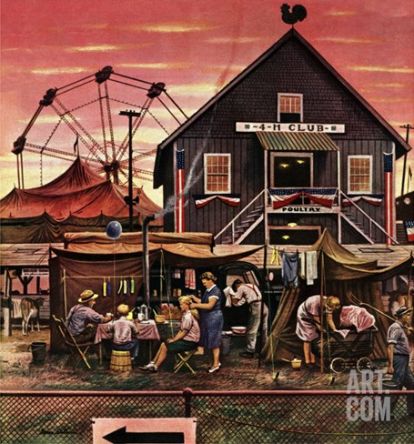 """Four-H Fair,"" August 28, 1948 Stretched Canvas Print"