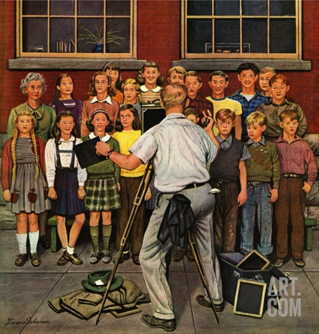 """School Pictures,"" June 15, 1946 Stretched Canvas Print"