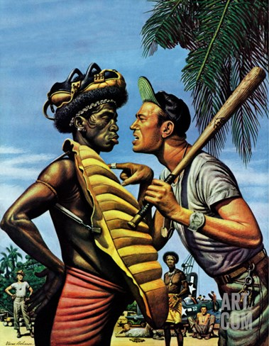 """Island Game,"" April 21, 1945 Stretched Canvas Print"