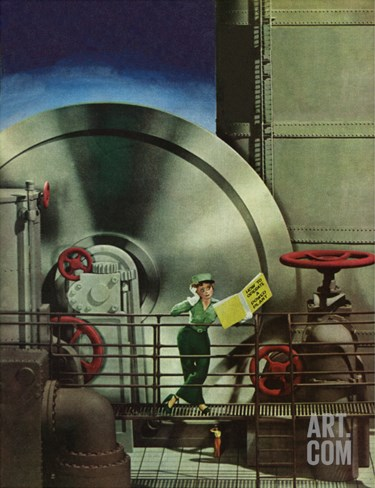 """How to Operate a Power Plant,"" October 2, 1943 Stretched Canvas Print"