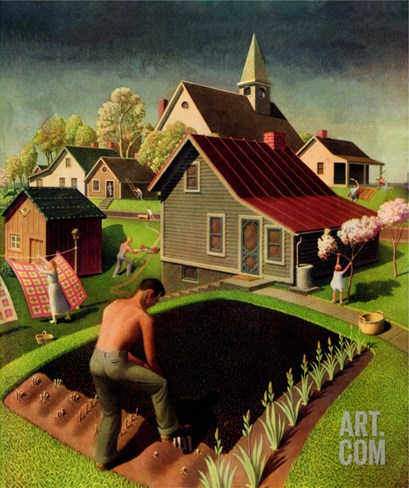 """""""Spring 1942,"""" April 18, 1942 Stretched Canvas Print"""