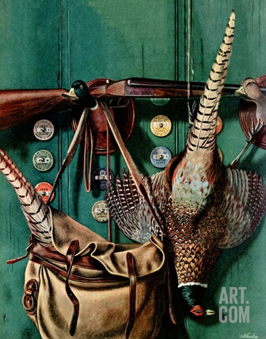 """Hunting still life,"" November 11, 1944 Stretched Canvas Print"