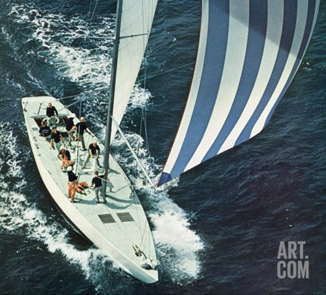 """America's Cup,"" August 22, 1964 Stretched Canvas Print"