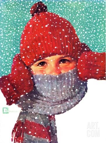 """Bundled Up,"" Jan/Feb 98 Stretched Canvas Print"