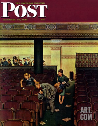 """Lost Shoe,"" Saturday Evening Post Cover, December 14, 1946 Stretched Canvas Print"