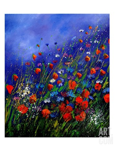 Wild Flowers 789070 Stretched Canvas Print
