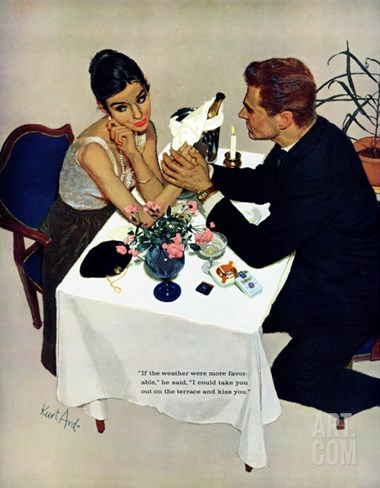 "Pretend You Love Me - Saturday Evening Post ""Leading Ladies"", February 22, 1958 pg.40 Stretched Canvas Print"