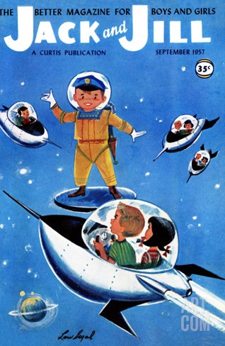 A Day in Outerspace - Jack and Jill, September 1957 Stretched Canvas Print