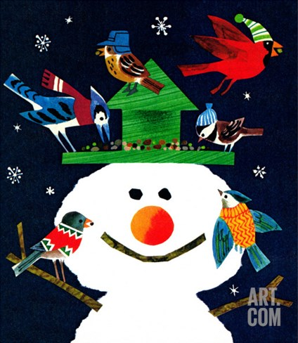 Snowman and Friends - Jack and Jill, January 1980 Stretched Canvas Print