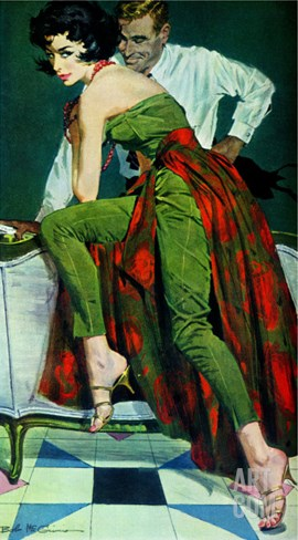"The Other Wife - Saturday Evening Post ""Men at the Top"", January 30, 1960 pg.31 Stretched Canvas Print"