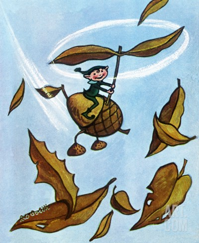 Flying Acorn - Jack and Jill, October 1954 Stretched Canvas Print